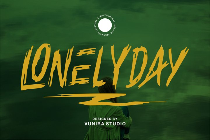 Lonelyday | Rough Brush Font