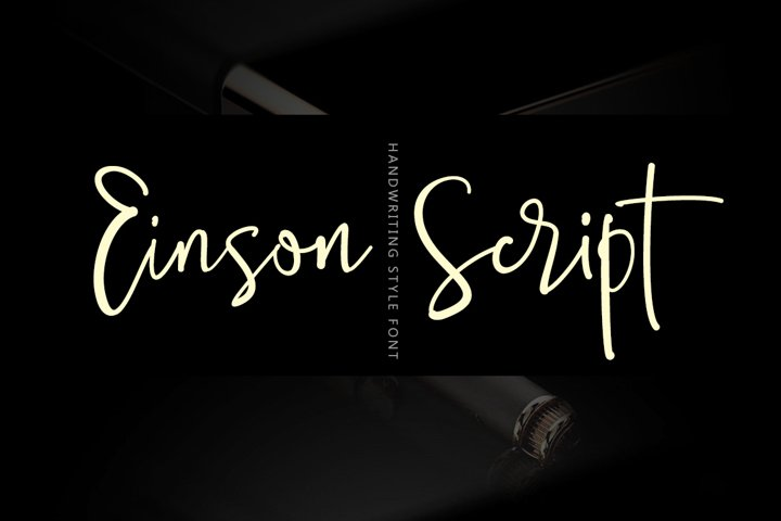 Einson Script Font