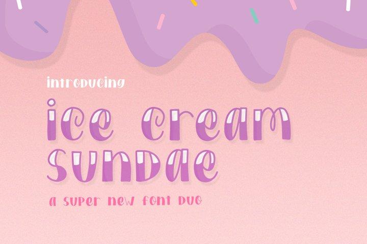 Ice Cream Sundae Font Duo