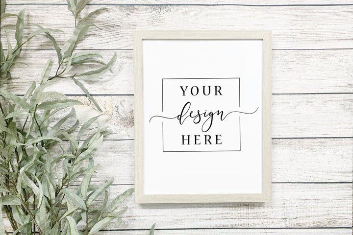 Neutral Sign Mockup In Rustic Farmhouse Style Simple Light