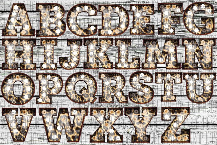 Leopard Marquee Alphabet