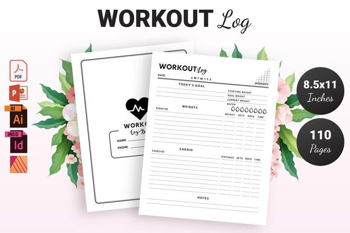 Workout Log Book - KDP Interior