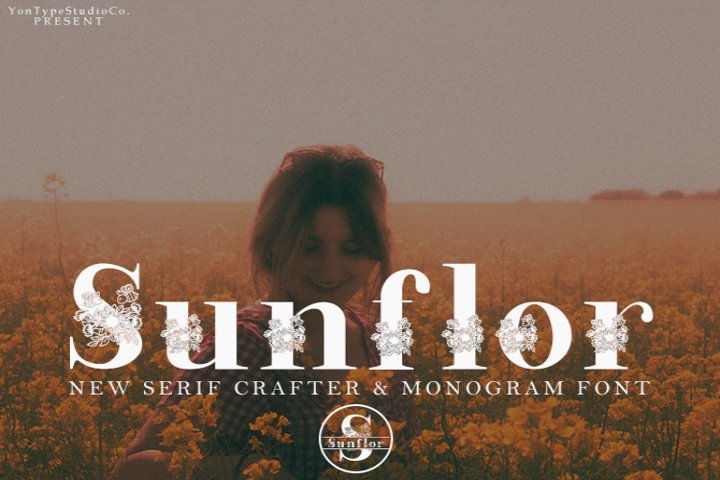 Sunflor-A New Crafter & Monogram Serif Font