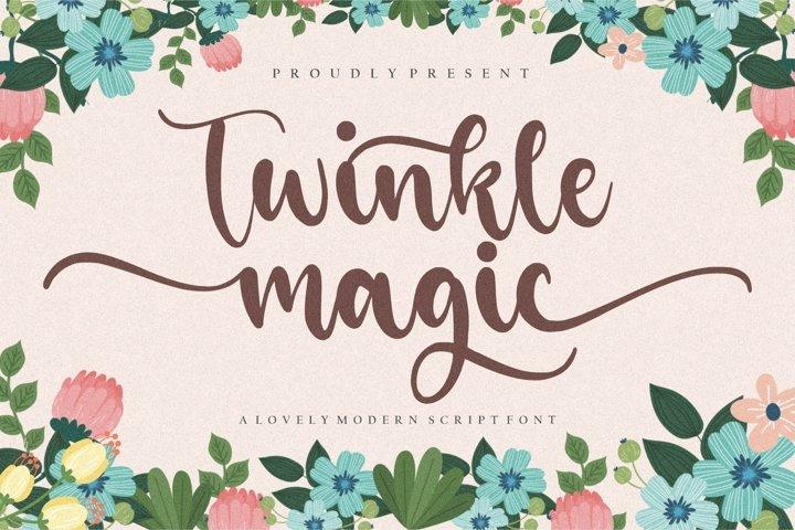 Twinkle Magic Lovely Modern Script Font
