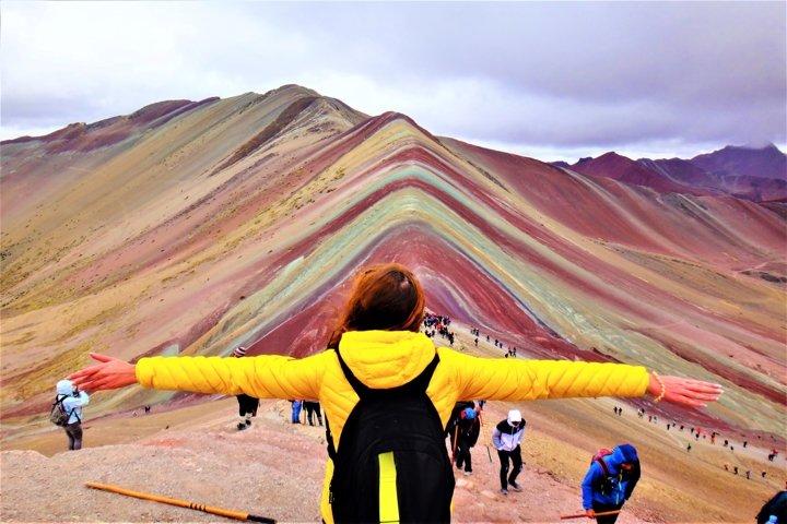 Amazing Vinicunca Rainbow Mountain in Peru