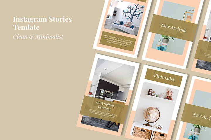 Furniture social media stories template banner