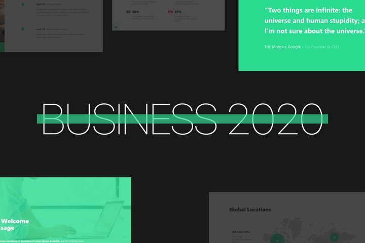 Business 2020 - Smooth Animated Google Slides Template