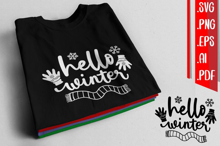 Hello Winter svg eps ai png pdf