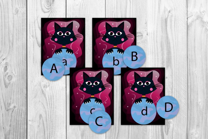 Flash cards for kids Alphabet cards Halloween card