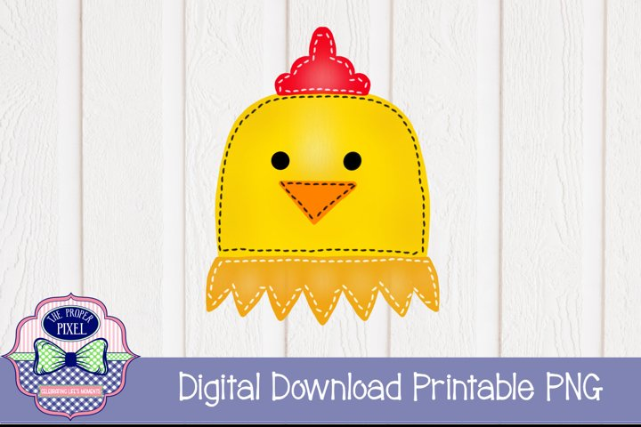 Watercolor Stitched Chicken Sublimation Printable