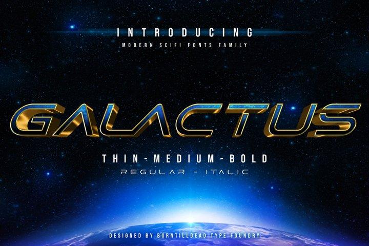 Galactus - SCIFI Font Family