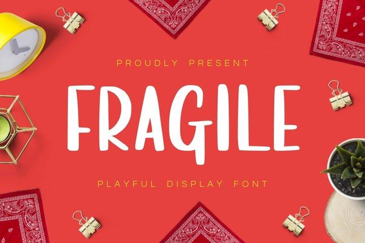 Web Font Fragile Display Font