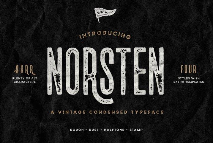 Norsten Condensed Typeface