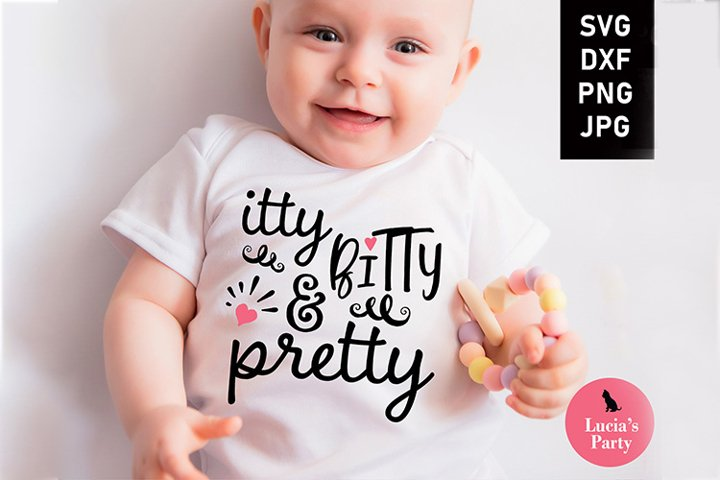 Itty Bitty and Pretty SVG DXF PNG JPG