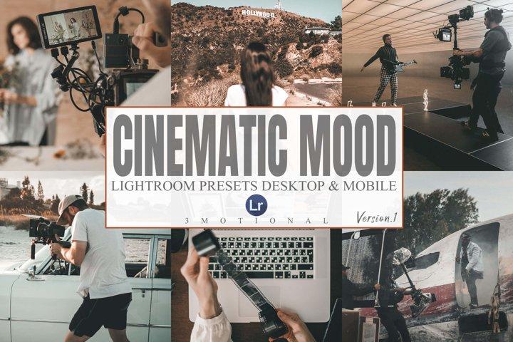 8 Cinematic Mood Lightroom Desktop and Mobile Presets