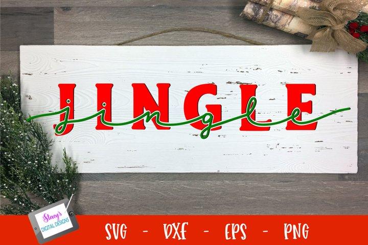 Christmas SVG - Jingle SVG - Knockout