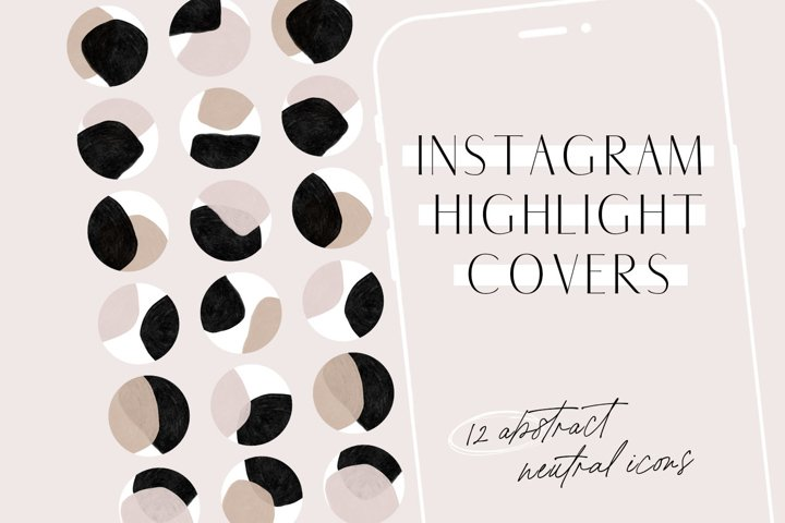 Neutral Abstract Instagram Highlight Covers