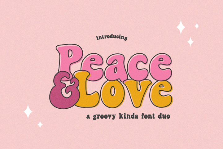 Peace and Love Font Duo