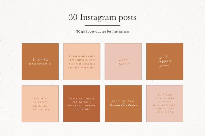 Instagram Girl Boss Quotes | Instagram Branding