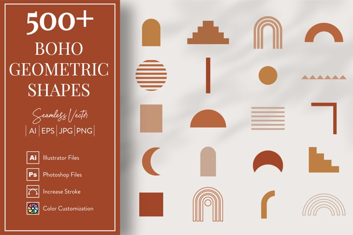 Boho Geometric Shapes & Elements - More than 500