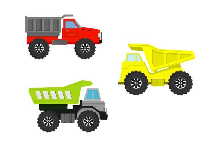 truck dump vector design