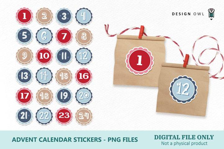 Advent Calendar Printable Stickers