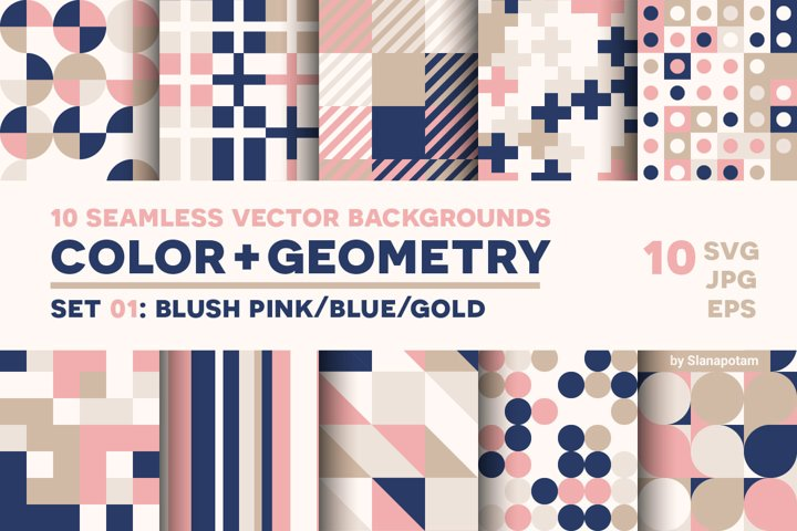 COLOR GEOMETRY, pattern set 01
