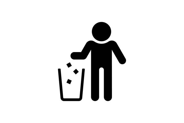 Garbage recycling sign. Trash icon. The basket symbol