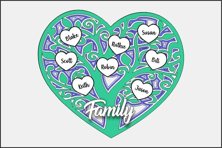 Family Tree Heart
