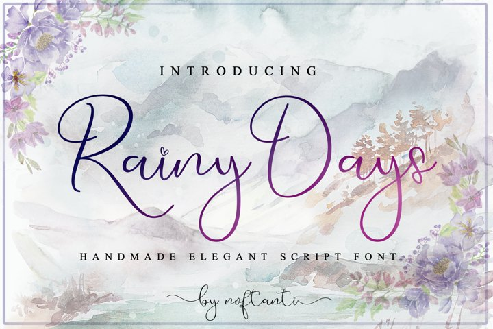 Rainy Days - WEB FONT