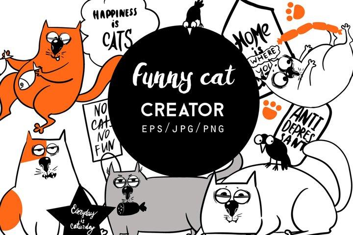 Funny cat creator