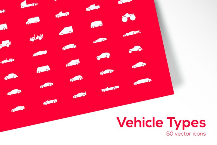Vehicle Types Icons Set