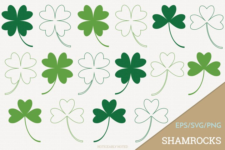 Shamrock Four Leaf Clover Vector / Clip Art