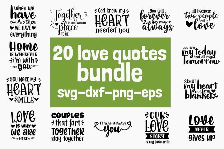 Love Quotes SVG Bundles