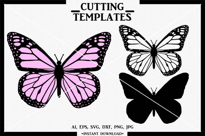 Butterfly SVG, Layered Butterfly, Silhouette Cameo, Cricut