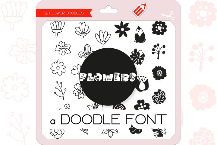 Flower Doodles - Dingbats Font
