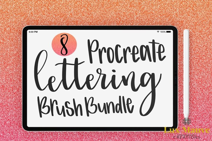 Procreate Lettering Brush Bundle example