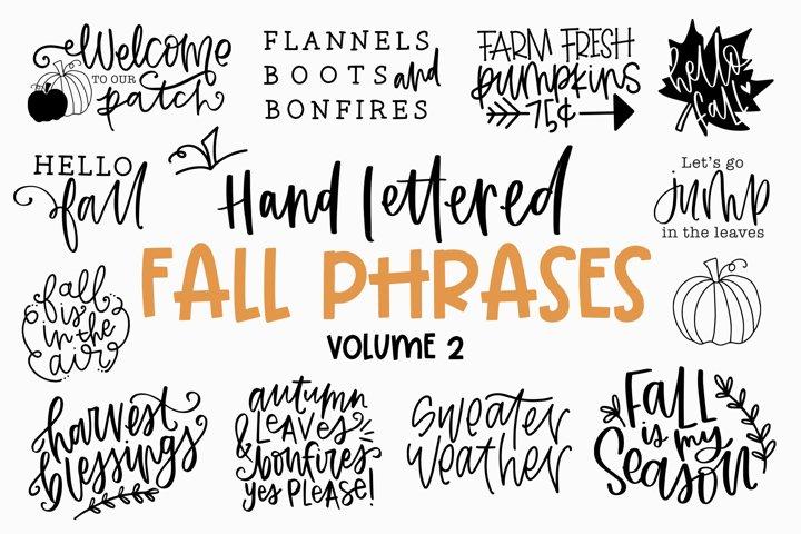 Fall Phrases Symbols Font Volume 2