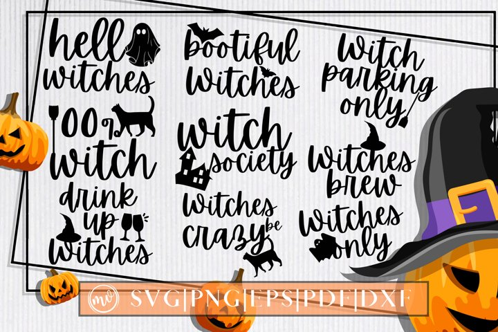 Halloween Witches SVG Quotes Bundle - 10