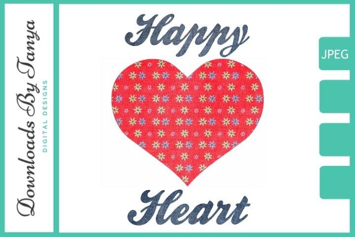 Happy heart printable