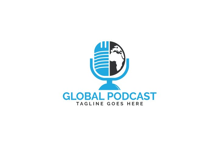 Global Podcast Logo Design.