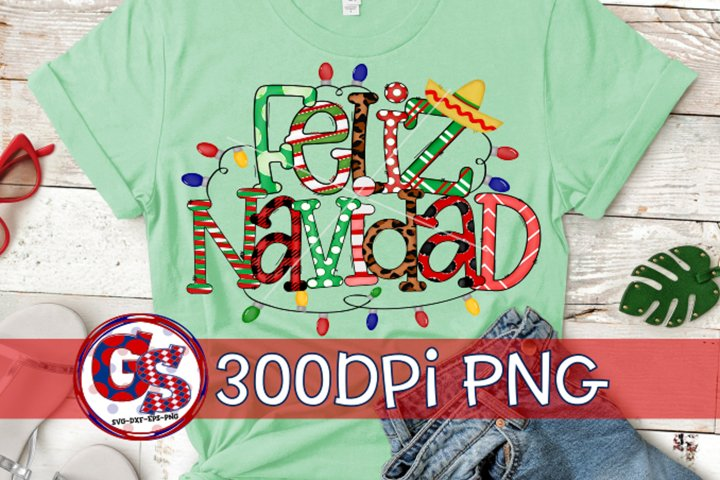Feliz Navidad PNG for Sublimation|Christmas PNG