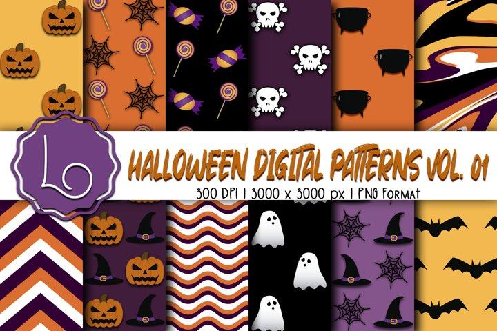 Halloween Digital Patterns Vol. 01