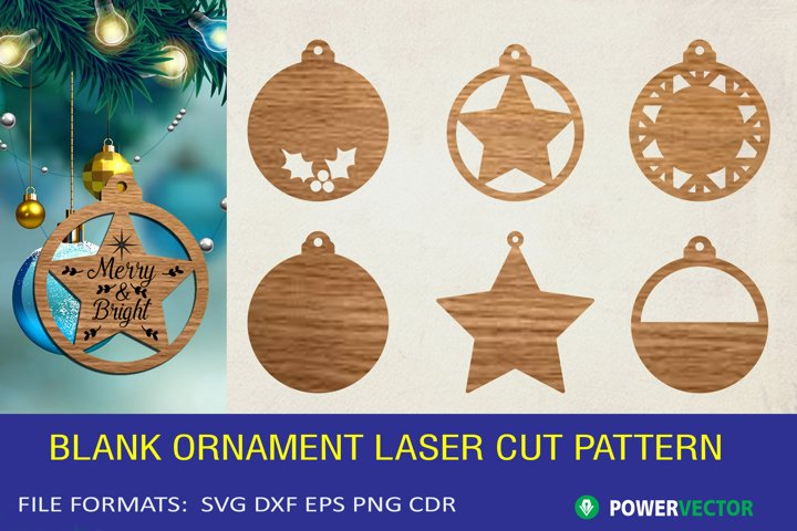 Blank Christmas Ornament Laser Pattern