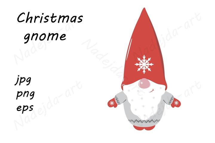 Christmas Cute Cartoon Gnome
