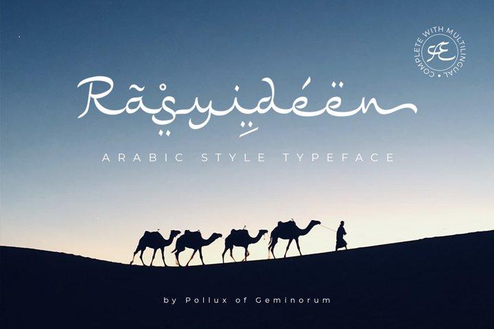 Rasyideen - Arabic Style Typeface