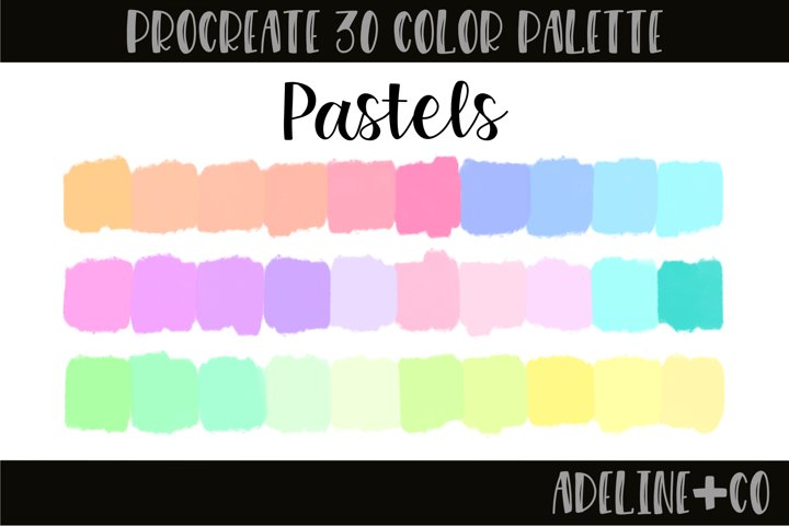 Pastels procreate color palette