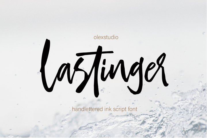 LASTINGER - Handlettered script