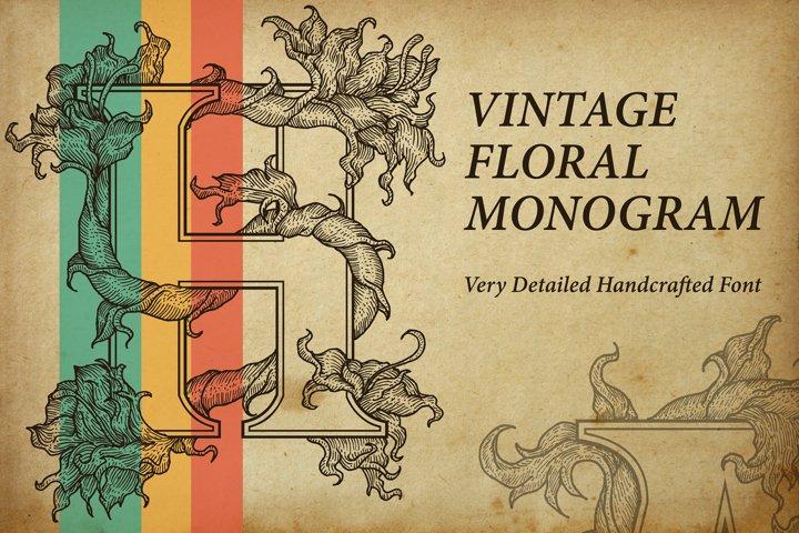 Vintage Floral Monogram