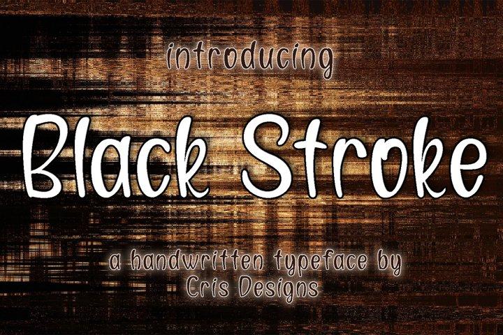 Black Stroke - A fun elegant font